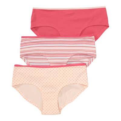 Damen-Panty mit verschiedenen Mustern, 3er-Pack