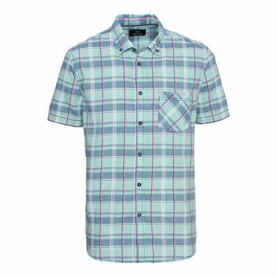 Herren-Seersucker-Hemd mit Karo-Design