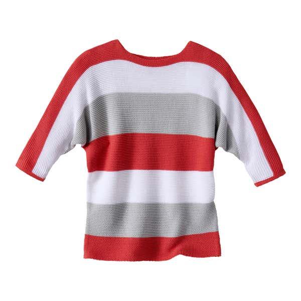 Damen-Pullover mit Blockstreifen