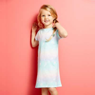 Mädchen-Nachthemd mit Meeresmotiv