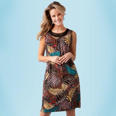 Damen-Kleid mit Spitzeneinsätzen
