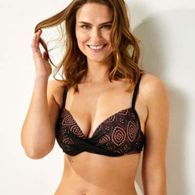 Damen-Bikini-Oberteil mit Spitze