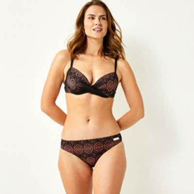 Damen-Bikini-Hose mit Spitze