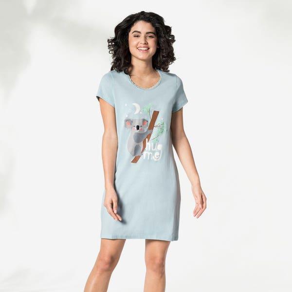 Damen-Nachthemd mit Koala-Aufdruck