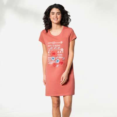 Damen-Nachthemd mit großem Frontdruck