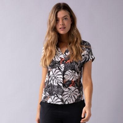 Damen-Bluse aus reiner Viskose