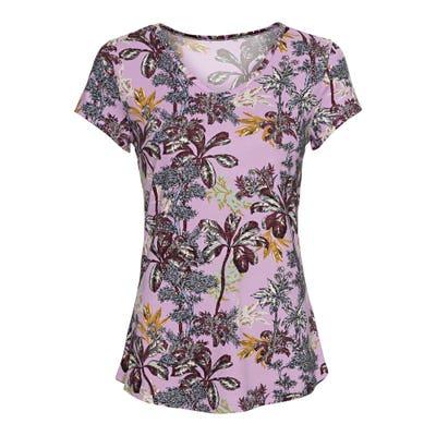 Damen-T-Shirt mit sommerlichem Muster