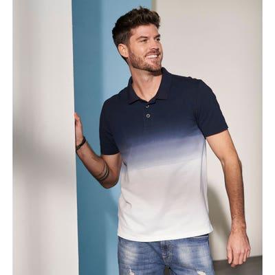 Herren-Poloshirt mit Farbverlauf