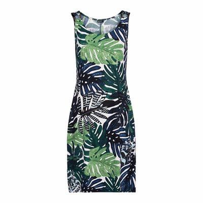 Damen-Kleid mit abstrakten Muster