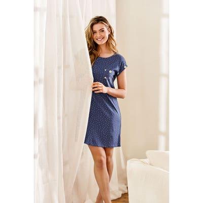 Damen-Nachthemd mit Baumwoll-Modal-Mix