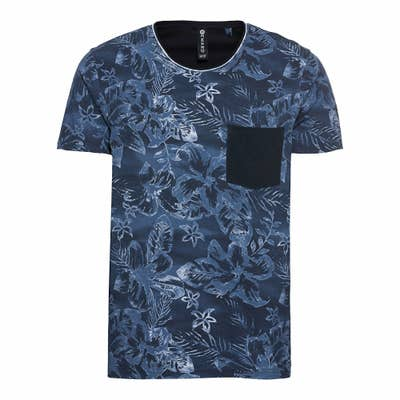 Herren T-Shirt im floralem Design