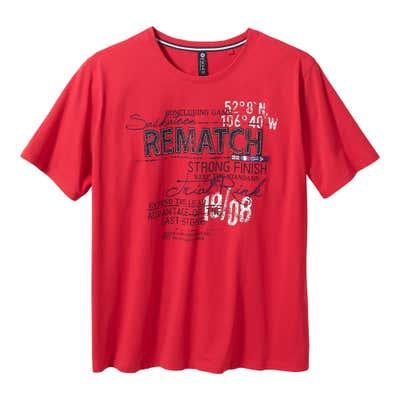 Herren-T-Shirt mit Frontdruck, große Größen