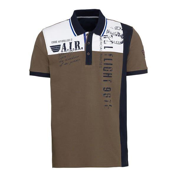 Herren-Poloshirt mit Kontraststreifen