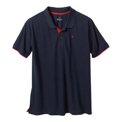 Herren-Poloshirt mit Kontrastelementen, große Größen