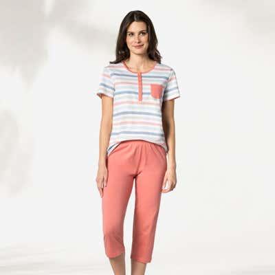 Damen-Schlafanzug mit Streifen