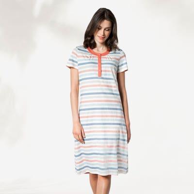 Damen-Nachthemd mit Streifen