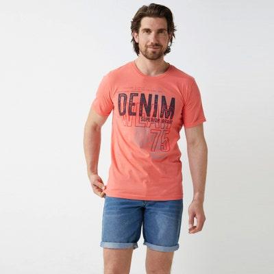Herren-T-Shirt mit großem Front-Aufdruck
