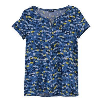Damen-T-Shirt mit Knopfleiste