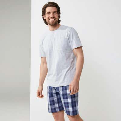 Herren-Schlafanzug in verschiedenen Farben, 2-teilig