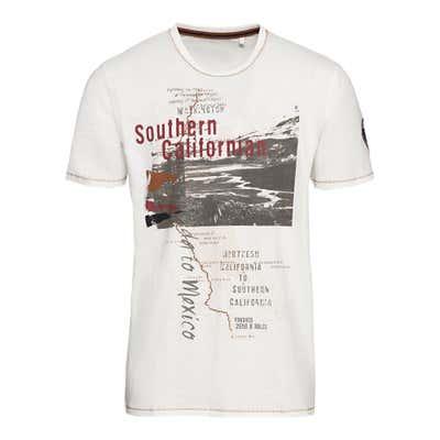 Herren-T-Shirt mit großen Frontdruck