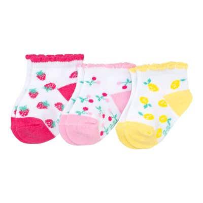 Baby-Mädchen-Sneaker-Socken mit Mäusezähnchen, 3er-Pack