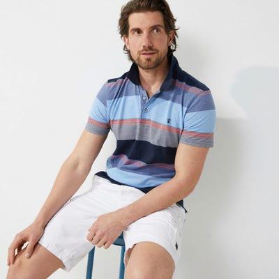 Herren-Poloshirt mit Streifen