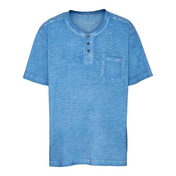 Herren-T-Shirt in Oil-Washed-Optik, große Größen