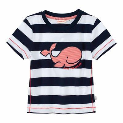 Baby-Jungen-T-Shirt mit Wal-Applikation