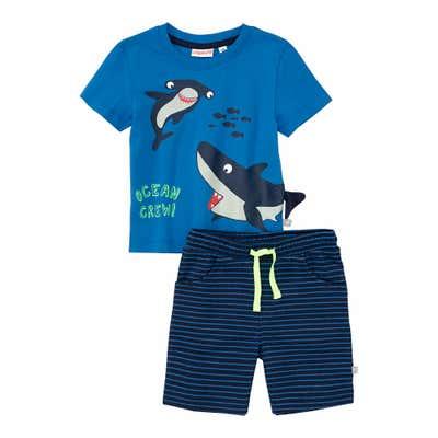 Baby-Jungen-Set mit Haien, 2-teilig