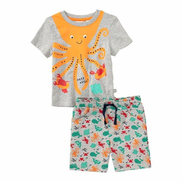 Baby-Jungen-Set mit coolem Kraken, 2-teilig