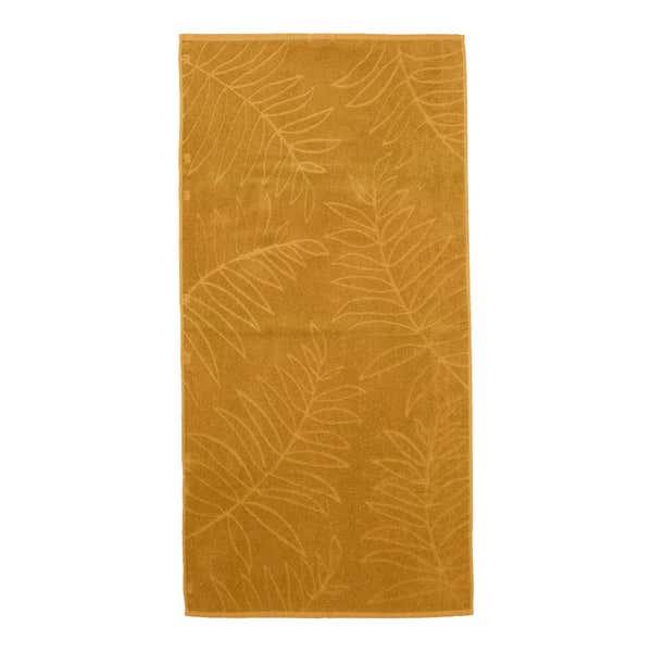 Duschtuch mit Blätter-Muster, ca. 70x140cm