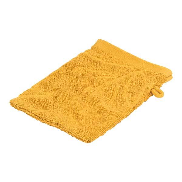 Waschhandschuh mit Blatt-Muster, ca. 16x21cm