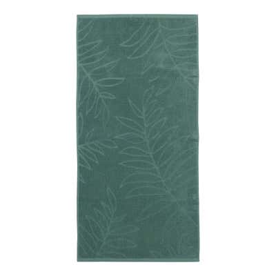 Handtuch mit Blätter-Muster, ca. 50x100cm