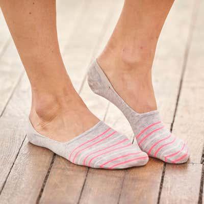 Damen-Füßlinge mit hübschem Muster, 2er-Pack