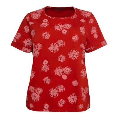 Damen-T-Shirt mit Blumen-Muster, große Größen