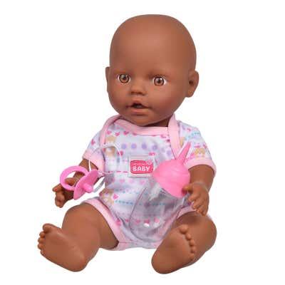 Simba New Born Baby Puppe mit Trinkflasche, ca. 30cm