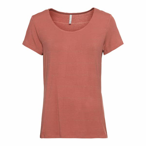 Damen-T-Shirt mit Glitzerstreifen