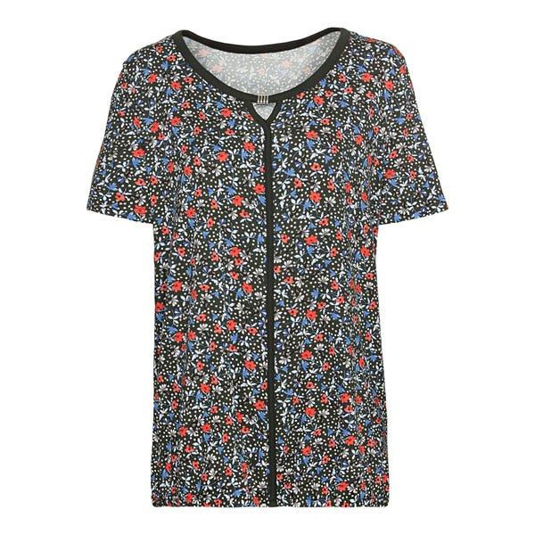 Damen-T-Shirt mit Schlüsselloch-Ausschnitt