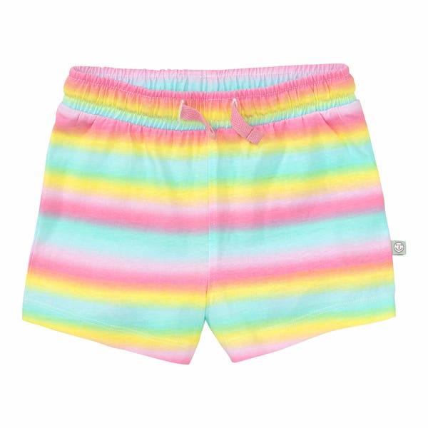 Baby-Mädchen-Shorts in Regenbogenfarben