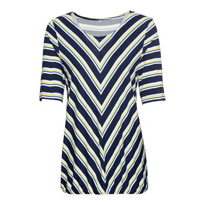 Damen-T-Shirt mit diagonalen Streifen