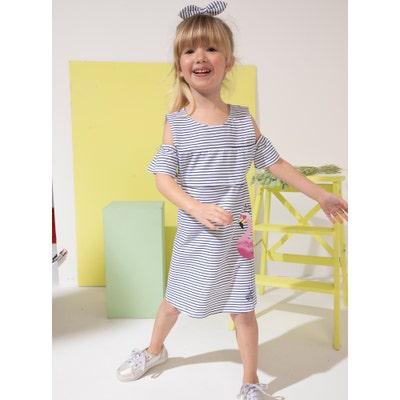 Kinder-Mädchen-Kleid mit Haarband