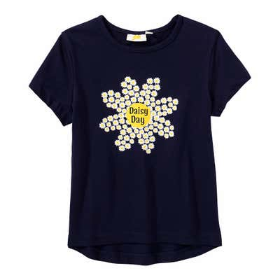 Kinder-Mädchen-T-Shirt mit Daisy-Frontprint
