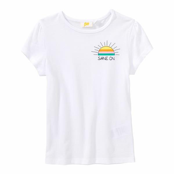 Mädchen-T-Shirt mit kleinem Aufdruck