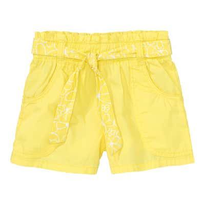 Mädchen-Shorts mit Gürtel