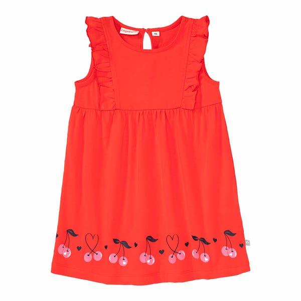 Baby-Mädchen-Kleid mit Kirschen