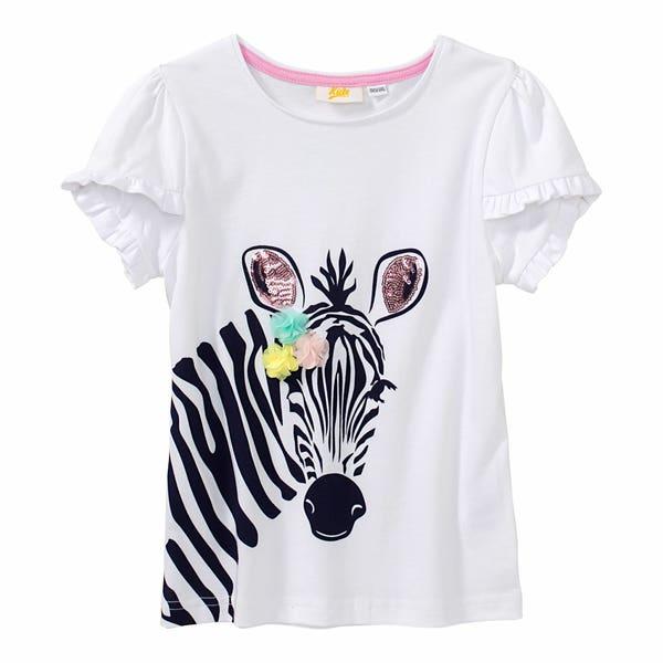Mädchen-T-Shirt mit Zebra-Aufdruck