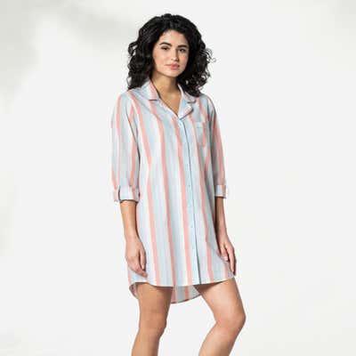 Damen-Nachthemd aus reiner Baumwolle