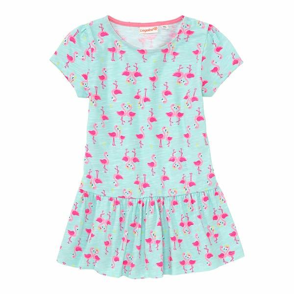 Baby-Mädchen-Kleid mit Flamingos
