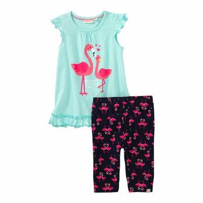 Baby-Mädchen-Set mit Flamingo, 2-teilig