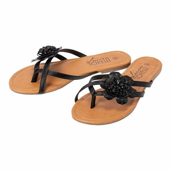 Damen-Sandalen mit schicker Blume